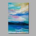 billige Landskabsmalerier-Hang-Painted Oliemaleri Hånd malede - Abstrakt / Landskab Moderne Omfatter indre ramme / Valset lærred / Stretched Canvas
