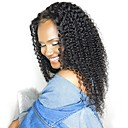 cheap Human Hair Capless Wigs-Remy Human Hair Unprocessed Human Hair Lace Front Wig Brazilian Hair Kinky Curly Jerry Curl Wig 130% Density with Baby Hair Natural Hairline African American Wig For Black Women Bleached Knots Natural