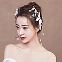 ieftine Accesorii Lolita-Decorațiuni Veșminte de cap Elegant Pentru femei Alb Floral Modă Ciucure Veșminte de cap Aliaj Costume de Halloween