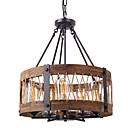 povoljno Lusteri-QINGMING® 5-Light Mini Lusteri Uplight Slikano završi Drvo Metal Wood / Bamboo Mini Style 110-120V / 220-240V