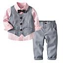 preiswerte Kleider für Mädchen-Baby Jungen Grundlegend Solide Langarm Baumwolle Polyester Kleidungs Set Rosa