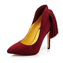 baratos Sapatos de Noiva-Mulheres Camurça Primavera Saltos Salto Agulha Preto / Roxo / Vermelho