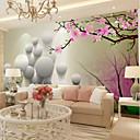 tanie Tapestry Ścienne-Tapeta / Mural Płótno Tapetowanie - klej wymagane Kwiaty / Art Deco / 3D