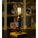 abordables Lampes de Table-Rustique Décorative Lampe de Table Pour Chambre à coucher / Bureau / Bureau de maison Métal 220V