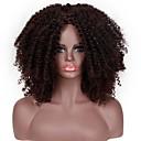 abordables Pelucas Sintéticas de Malla-Extensiones sintéticas Afro Kinky / Curl hinchable Estilo Corte asimétrico Sin Tapa Peluca Marrón Negro / Marrón Pelo sintético 14 pulgada Mujer Mujer Marrón Peluca Corta Peluca natural