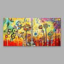 ieftine Includeți cadru interior-Hang-pictate pictură în ulei Pictat manual - Floral / Botanic Modern Includeți cadru interior / Stretched Canvas