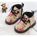 זול נעלי ילדות-בנות נעליים סוויד חורף מגפיי קרב מגפיים שרוכים ל פעוטות שחור / צהוב / ורוד / מגפונים\מגף קרסול / גומי