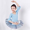 preiswerte Kindertanzkleidung-Ballett Kleider Mädchen Training / Leistung Baumwolle / Polyester Spitze / Kombination Halbe Ärmel Kleid
