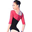preiswerte Tanzkleidung für Balltänze-Ballett Turnanzug Damen Training / Leistung Baumwolle / Elasthan Kombination Halbe Ärmel Gymnastikanzug / Einteiler