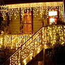 hesapli LED Şerit Işıklar-4 * 0.5M Dizili Işıklar 96 LED'ler Sıcak Beyaz / Çok Renkli 220-240 V 1set