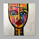 povoljno Apstraktno slikarstvo-Hang oslikana uljanim bojama Ručno oslikana - Sažetak Ljudi Klasik Moderna Bez unutrašnje Frame / Valjani platno