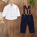 ieftine Seturi Îmbrăcăminte Băieți-Copii / Copil Băieți Activ / De Bază Petrecere / Zilnic Mată Manșon Lung Regular Bumbac / Poliester / Spandex Set Îmbrăcăminte Alb 100