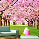 cheap Wall Murals-Wallpaper / Mural Canvas Wall Covering - Adhesive required Floral / Botanical / 3D
