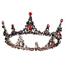 cheap Historical & Vintage Costumes-Black Swan Crown Vintage Gothic Lolita Beaded Baroque Tiaras Forehead Crown For Party Evening Prom Wedding Party Women's Girls' Crystal Crown Tiaras Costume Jewelry