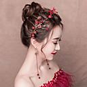 preiswerte Lolita Accessoires-Dekorationen Ohrreifen Braut-Schmuck-Sets Elegant Damen Rot Mosaik Modisch Kopfbedeckung Ohrring Aleación Kostüme