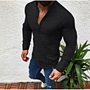 cheap Fitness Gear & Accessories-Men's Basic T-shirt - Solid Colored Stand White XL / Long Sleeve