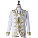 cheap Halloween & Carnival Costumes-Prince Cosplay Costume Masquerade Jacket Tuxedo Suits & Blazers Men's Embossed Baroque Medieval 18th Century Halloween Carnival Festival / Holiday Outfits White Plus Size Solid Colored