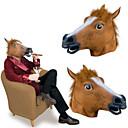 billige Masker-Hestehoved Halloween-masker Halloweentillbehör Hest Gysertema Gummi Lim Voksne Unisex Drenge Pige Legetøj Gave 1 pcs