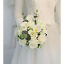 baratos Bouquets de Noiva-Bouquets de Noiva Buquês Casamento / Festa de Casamento Miçanga / Seda 11-20 cm