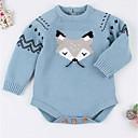 זול סוודרים ואריגים לבנות-סוודר וקרדיגן שרוול ארוך אחיד / גיאומטרי בנות פעוטות