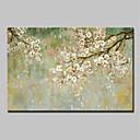 baratos Pinturas Florais/Botânicas-Pintura a Óleo Pintados à mão - Abstrato Floral / Botânico Modern Incluir moldura interna / Lona esticada