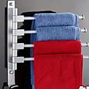 billige Tilbehørssett til badet-Tilbehørssett til badeværelset Kul / Kreativ Moderne Rustfritt stål 1pc 4-håndkle bar Vægmonteret