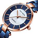 preiswerte Clutches & Abendtaschen-MINI FOCUS Damen Uhr Armbanduhr Japanisch Quartz Edelstahl Schwarz / Blau / Gold 30 m Armbanduhren für den Alltag Cool Analog damas Modisch Elegant Schwarz Blau Rotgold