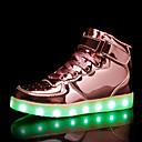 זול LED Shoes-בנים נעליים זוהרות PU נעלי ספורט פעוט (9m-4ys) / ילדים קטנים (4-7) / ילדים גדולים (7 שנים +) LED כסף / ורוד / כחול ים קיץ / גומי