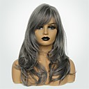cheap CCTV Cameras-Synthetic Wig Women's Body Wave Dark Gray Side Part Synthetic Hair 20 inch Fashionable Design / New Arrival / Natural Hairline Dark Gray Wig Long Capless Grey