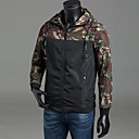 cheap Men's Oxfords-Men's Daily / Weekend Active Spring / Fall Plus Size Regular Jacket, Camouflage Hooded Long Sleeve Polyester Classic Style Green / Red / Gray XXXL / 4XL / XXXXXL