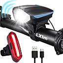 رخيصةأون مصابيح الدراجة العاكسة-LED اضواء الدراجة طقم مصابيح دراجة قابل لإعادة الشحن ضوء الدراجة الأمامي ضوء الدراجة الخلفي دراجة جبلية ركوب الدراجة ضد الماء مكافح الضباب محمول بطارية  Li-ion قابلة للتشحين 1000 lm طاقة قابلة للشحن