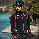 abordables Vestes de cyclisme-SANTIC Homme Veste de Cyclisme Vélo Veste / Hauts / Top Pare-vent, Doublure Polaire, Garder au chaud Couleur Pleine Spandex, Toison Hiver Noir Avancé Cyclisme en Montagne Modèle Semi-Form Fit Tenues