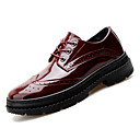cheap Men's Oxfords-Men's Bullock Shoes Patent Leather Fall Business Oxfords Breathable Black / Wine