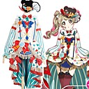 hesapli Anime Kostümleri-Esinlenen Canlı Aşk Cosplay Anime Cosplay Kostümleri Cosplay Takımları Zıt Renkli Elbise / Çoraplar / Fiyonk Uyumluluk Erkek / Kadın's