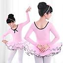 זול בגדי ריקוד לילדים-בלט שמלות בנות הדרכה / הצגה אלסטיין / לייקרה קפלים / מפרק מפוצל שרוול ארוך שמלה