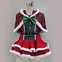 hesapli Anime Kostümleri-Esinlenen Canlı Aşk Santa Suits / Cosplay Anime Cosplay Kostümleri Cosplay Takımları Kırk Yama / Karışık Renkli Elbise / Atkı / Daha Fazla Aksesuarlar Uyumluluk Erkek / Kadın's
