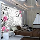 olcso Falfestmény-tapéta / Falfestmény Vászon Falburkolat - ragasztószükséglet Virágos / Art Deco / 3D