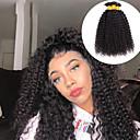 お買い得  フロント&クロージャー-4バンドル ブラジリアンヘア Kinky Curly バージンヘア 未処理人毛 人間の髪編む バンドル髪 ワンパックソリューション 8-28 インチ ナチュラルカラー 人間の髪織り 無臭 新参者 厚型 人間の髪の拡張機能 女性用