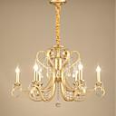povoljno Lusteri-JLYLITE 6-Light Svijeća stilu Lusteri Uplight Electroplated Metal svijeća Style 110-120V / 220-240V