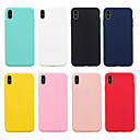 cheap iPhone Cases-Case For Appl iPhone XR XS XS Max Frosted Back Cover Solid Colored Soft TPU for iPhone X 8 8 Plus 7 7plus 6s 6s Plus SE 5 5S
