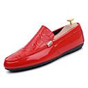 hesapli Erkek Düz Ayakkabıları ve Makosenleri-Erkek Ayakkabı PU Sonbahar Kış Sportif Mokasen & Bağcıksız Ayakkabılar Günlük için Beyaz / Siyah / Kırmzı
