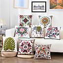 baratos Almofadas de Decoração-1 pçs Algodão / Linho Fronha / Cobertura de Almofada, Árvores / Folhas / Elefante Tropical / Boho