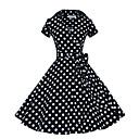 abordables Vintage Costumes Anciens-Femme Audrey Hepburn Déguisements  Vintages Points Polka Rétro / Vintage Années 50 Tee-shirt Robes Mi-long pour