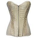 رخيصةأون Lolita فساتين-الكوسبلاي Steampunk كوستيوم نسائي كورسيه فوق الصدر أبيض / أسود / البيج عتيقة تأثيري بدون كم قصيرة