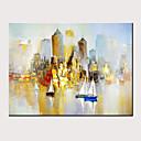 levne hodiny Díly-Hang-malované olejomalba Ručně malované - Abstraktní Krajina Moderní Bez vnitřní rám