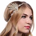 preiswerte Historische & Vintage Kostüme-Great Gatsby 20er Vintage Inspirationen Gatsby Kostüm Damen Kopfbedeckung Flapper Haarband Kopfbedeckung Weiß / Schwarz / Golden Vintage Cosplay Chrom