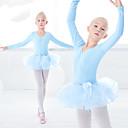 preiswerte Ballettschuhe-Ballett Kleider Mädchen Training / Leistung Elastan / Lycra Wellenmuster / Kombination Langarm Kleid