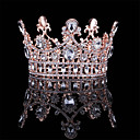 cheap Party Headpieces-Alloy Tiaras with Crystal 1 Piece Wedding / Daily Wear Headpiece