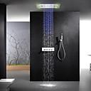 levne Koupelnové odpady-Sprchová baterie - Moderní Pochromovaný Sprchový systém Keramický ventil Bath Shower Mixer Taps / Mosaz