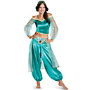 cheap Movie & TV Theme Costumes-Princess Jasmine Cosplay Costume Adults' Women's Halloween Christmas Halloween Carnival Festival / Holiday Tulle Polyster Green Carnival Costumes Princess